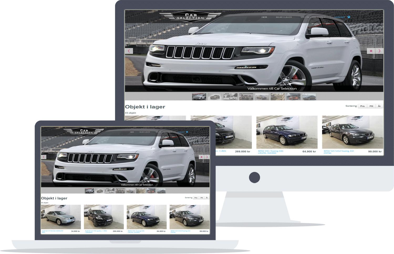 تصميم موقع car-sellection